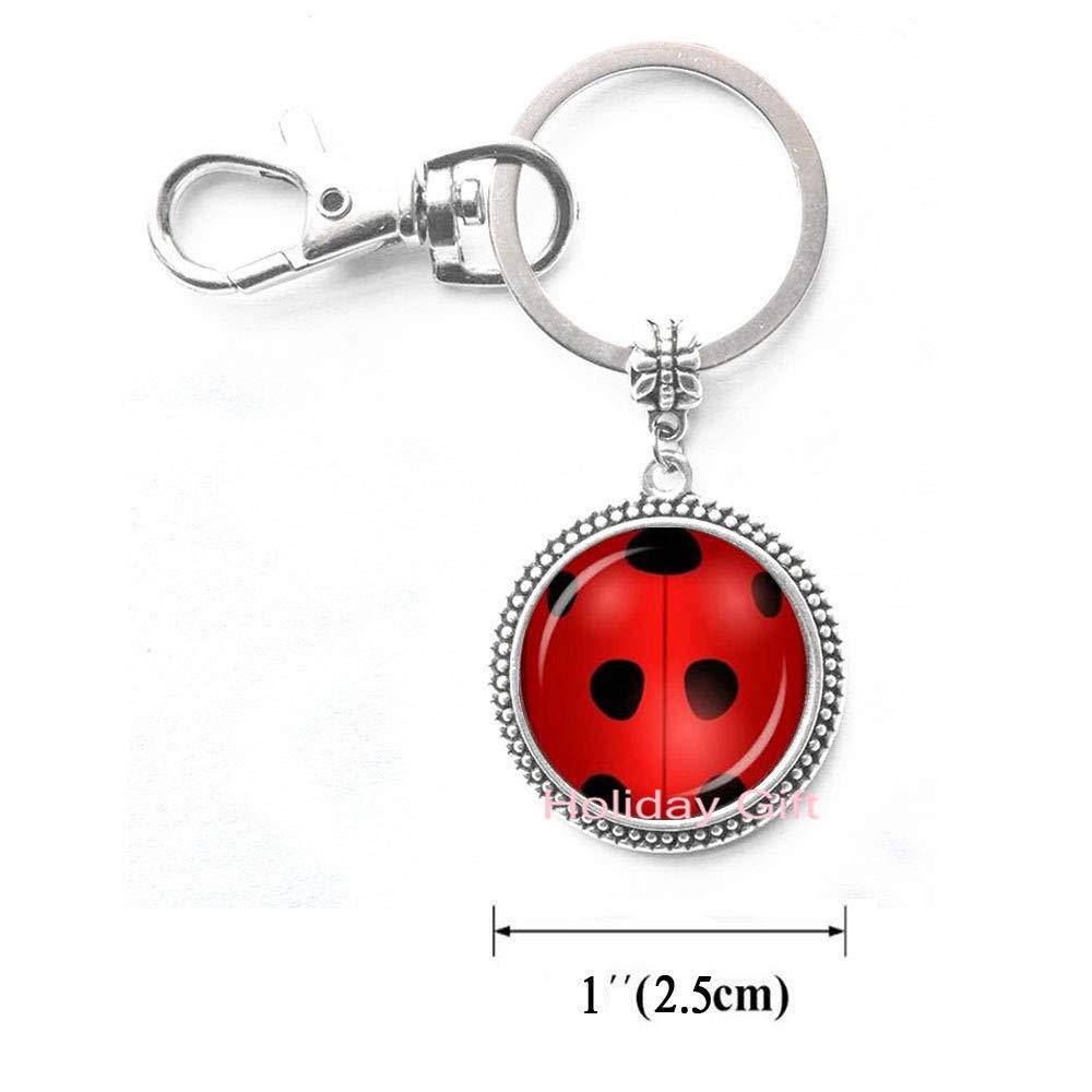 Llavero con diseño de mariquita roja para dama de honor ...