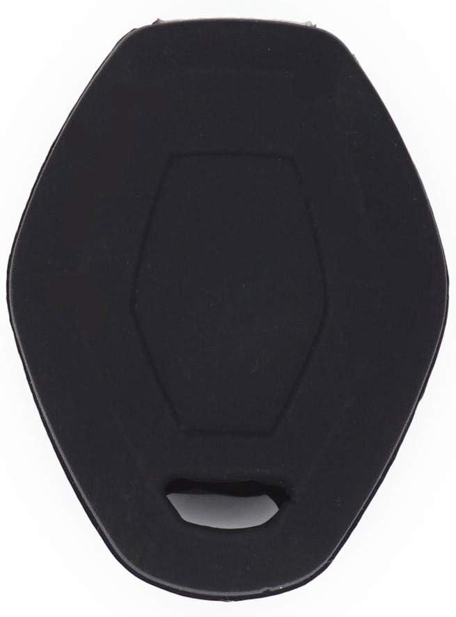 WFMJ 2Pcs Black Silicone for BMW X3 X5 Z3 Z4 3 5 7 Series E38 E39 E46 E83 M5 325i Smart Remote Key Chain Case Cover Bag Fob