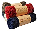 My Doggy Place - Ultra Absorbent Microfiber Dog Door Mat, Durable, Quick Drying, Washable, Prevent Mud Dirt, Keep Your House Clean (Red, Medium) - 31 x 20 inch
