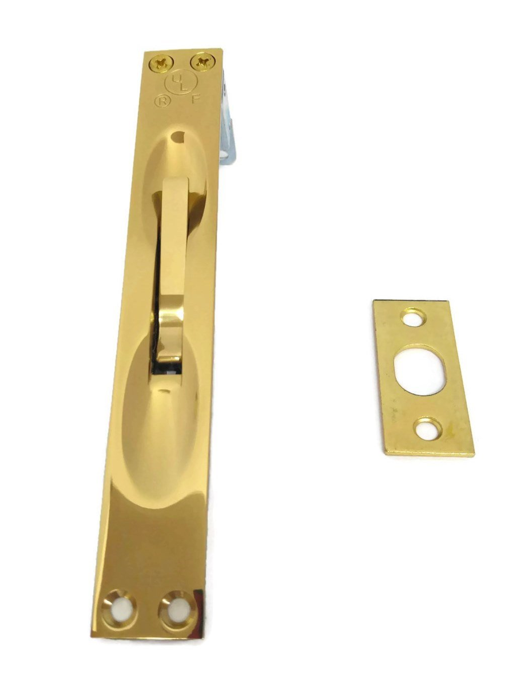 Rockwood 557 US3 Manual Flush Bolt, for wood doors corner mounted 6 3/4 x 1, UL Approved for Wood Doors up to 90 Min