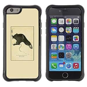 LASTONE PHONE CASE / Suave Silicona Caso Carcasa de Caucho Funda para Apple Iphone 6 PLUS 5.5 / Devil Biology Evolution Fish Monster