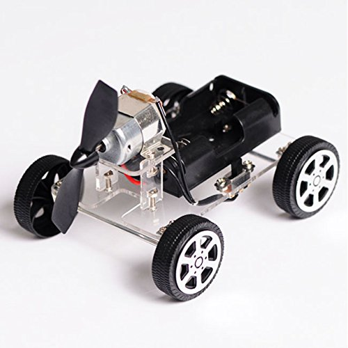 【Best Deals】OriGlam Mini Motor Smart Robot Car, Wind Car DIY Puzzle Robot Kit, Windmilling DIY Robot Smart Car, Chassis Car Model and Battery Box For Arduino DIY
