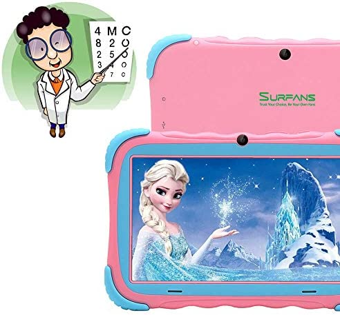 Kids Tablet, 7 Inch IPS Display, IWAWA Pre Installed, 2G/16GB WiFi Android Tablet, Dual Camera, Bluetooth, Kids-Proof Tablet For Kids