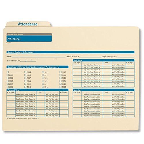 ComplyRight Attendance Folders 25PK by ComplyRight