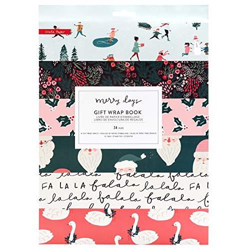 Crate Paper 344520 Gift Wrap Book, Multicolor