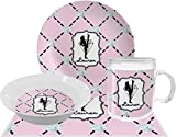 Diamond Dancers Dinner Set - 4 Pc (Personalized)