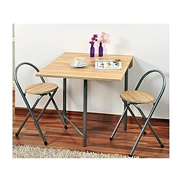 Kesper Küche Tisch Mit 2 Stühle Set Holz Braun Amazonde Küche