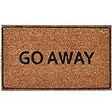 "ninamar door mat ""go away"" natural coir - 75 cm x 44 cm"