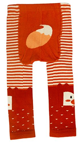 - CHUNG Baby Toddler Boys Girls Cotton Footless Ankle Length Tights Soft Stretchy 6M-4Y, Orange Fox, 6-24 Months