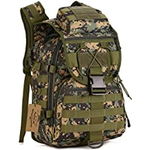 ArcEnCiel 40L Camping Bags Waterproof Molle Backpack Military 3P Tad Tactical Backpack Assault Travel Bag for Men Cordura -Rain Cover Included