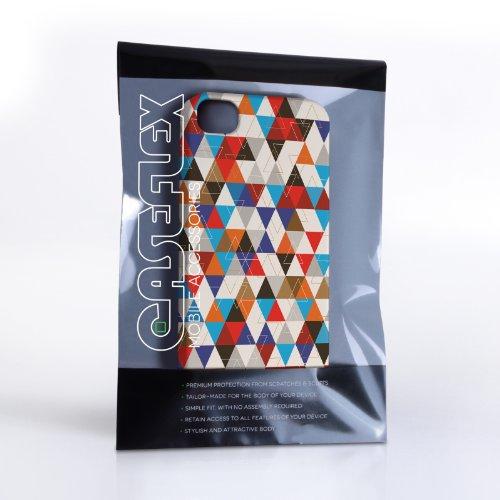 Caseflex iPhone 4 / 4S Hülle Blau / Rot Geometrisch Dreiecke Muster Hart Schutzhülle