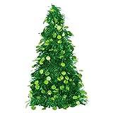 "Amscan Christmas Centerpiece Small Tree, 10"", Tinsel, Green"