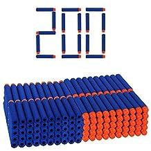 100 Pcs Blue Foam Darts for Nerf N-strike Elite Series Blasters Toy Gun Refill Pack