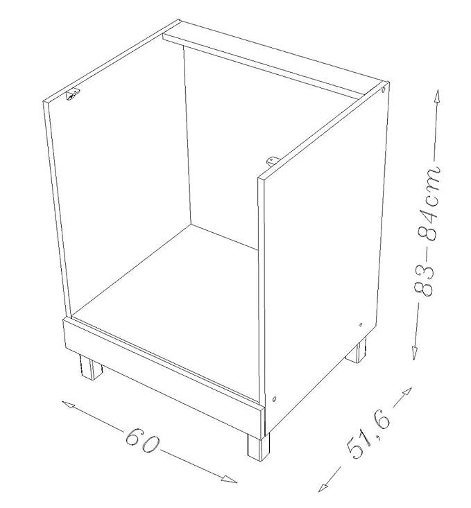 Berlenus CF6BN - Mueble bajo de Cocina para el Horno (60 cm ...