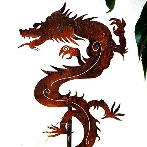 Garden Art -Metal Chinese Dragon Stake