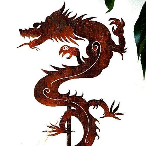 Garden Art -Metal Chinese Dragon Stake