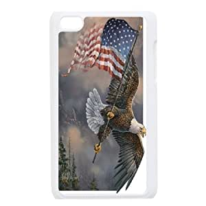 Custom Phone Case American Eagle and Flag FOR IPod Touch 4 APPL8306894