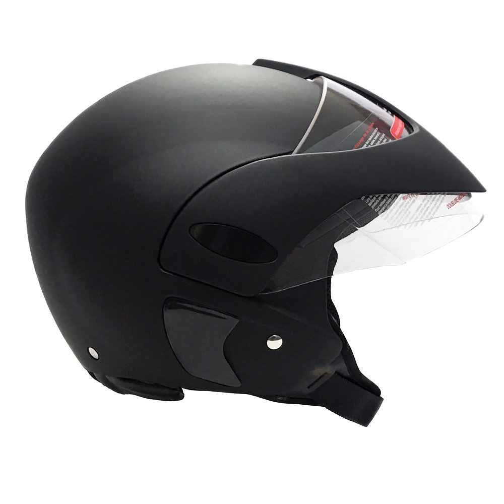 Amazon.com: MMG Motorcycle Open Face Helmet DOT Street Legal - Flip Up Clear Visor - Matte Black 203 (Small): Automotive