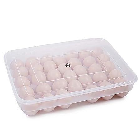 77L Huevera, contenedor de 34 huevos para el frigorífico, con tapa ...