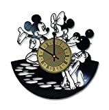 Best Disney Gifts For Boyfriends - Mickey Minnie Mouse Disney vinyl record wall clock Review