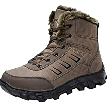 Barerun Mens Snow Boots Winter Hiking Boots for Men Warm Fur Lined Warm Ankle Booties