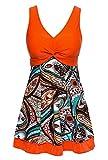 MiYang Women's Shaping Body Swimsuit One-Piece Swimwear Spa Suit US 3X (20W-22W), Orange