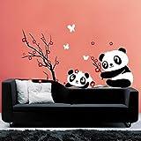 Hatop Home Decor Mural Vinyl Wall Sticker DIY Panda Bamboo Pattern Nursery Room Wall Art Decal (B)