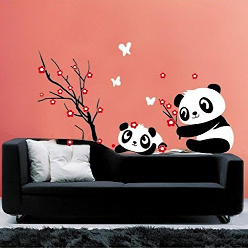 Hatop Home Decor Mural Vinyl Wall Sticker DIY Panda Bamboo Pattern Nursery Room Wall Art Decal (B)