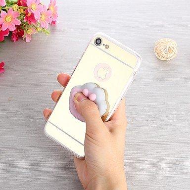 Fundas y estuches para teléfonos móviles, Caso para el iphone 7 más 7 caja diy blanda de la contraportada del caso de la relevación de la tensión caso suave del tpu de la ( Color : Rosado , Modelos Co Oro