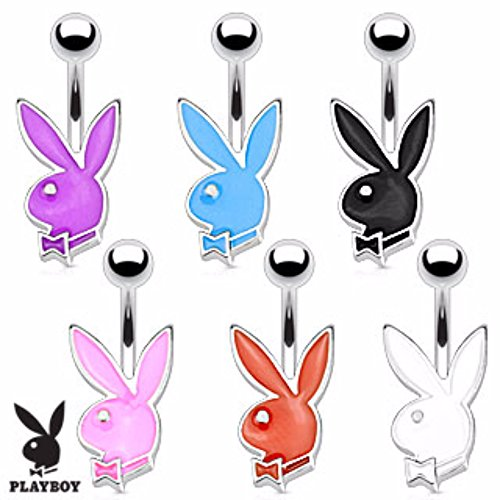 Playboy Bunny Petite Navel Ring Freedom Fashion 316L Surgical Steel (Rings Belly Bunny Button)