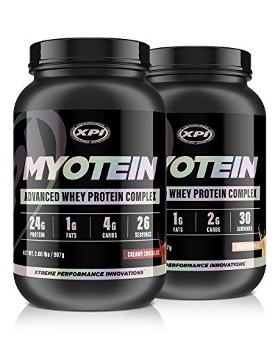 XPI Myotein Isolate (Chocolate & Vanilla) 2LBS Each - Whey Protein Isolate - The Best Whey Protein Isolate Protein Powder