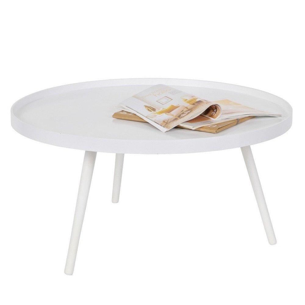 Beistelltisch Couchtisch MESA 78 Ø 78 MESA cm Tisch Kaffeetisch Sofatisch MDF weiß e03417