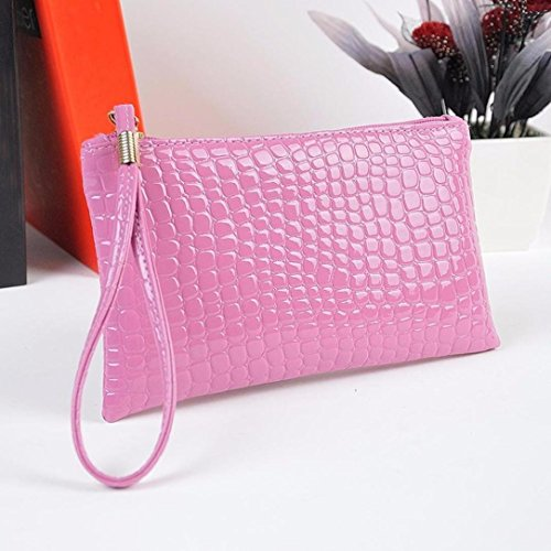Leather Women Kinrui 1 Purse Clutch Crocodile Women Handbag Purple Coin Bag Purse wEnTICq