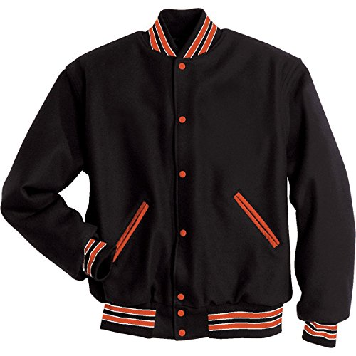 LETTERMAN JACKET Holloway Sportswear M Black/Burnt - High Melton Street