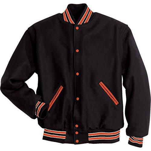 LETTERMAN JACKET Holloway Sportswear M Black/Burnt - Street High Melton