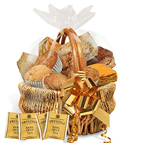 Simply Scrumptous Low Carb Fat Free Sweet Treats Gift Basket with tea