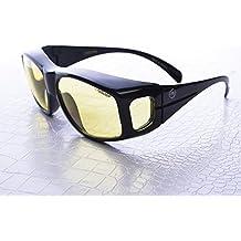 NoScope 'Golem' Computer / Video Gaming Glasses (Prescription RX Compatible) (Onyx Black) - Reduce Eyestrain, Improve Clarity by NoScope