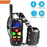 Newest Dog Training Collar with Remote, Micho Electric Repellent Dogs, 100% Waterproof and Rechargeable Controller with Beep, Vibration, and Light (Black)
