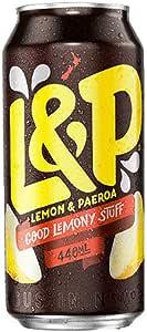 L & P Lemon & Paeroa Drink (Pack of 24), 24 x 440 ml