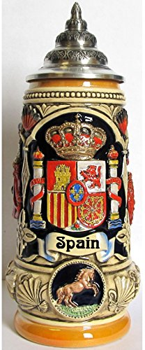 Spain Coat of Arms Spanish Matador and Dancers LE German Beer Stein .5 L by Pinnacle Peak Trading Company