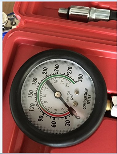 PMD Products Compression Gauge Test Set for Engine Cylinders Diagnostic Tester with 4 Long Reach Hoses M10 M12 M14