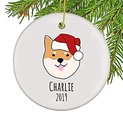 PotteLove-Unique-Shiba-Inu-Custom-Christmas-OrnamentCustomized-Name-and-Date-Ceramic-Ornament
