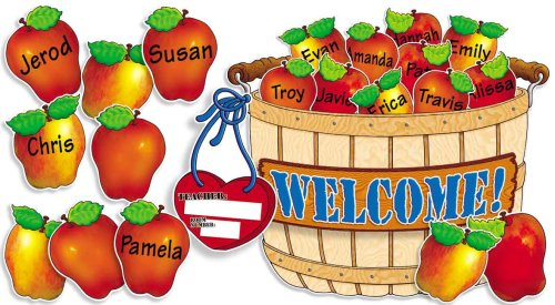 Set School Board Bulletin - Scholastic Giant Apple Basket! Bulletin Board (TF3109)