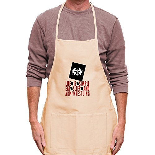 Teeburon Life is simple Eat, sleep and Arm Wrestling Apron by Teeburon