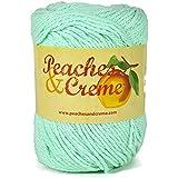 Peaches & Creme (Cream) Cotton Yarn Mint 2.5 oz. (Green)