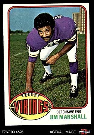 1976 Topps   385 Jim Marshall Minnesota Vikings (Football Card) Dean s  Cards 6 - 7cd2866cf