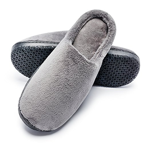 Pictures of Men's Wool Plush Slippers | Fleece Lined SL00234647G 1