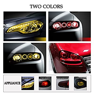 1797 Car Light Tint Film Headlight Fog Light Taillight Red Tinted Vinyl Tail Back Color Sticker Self Adhesive Shiny Chameleon Accessories Parts 48''x12'' 1pc: Automotive