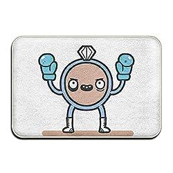 Reteone Alarm Clock Boxing Art Pattern Doormats Entrance Mat Non-slip Indoor Outdoor Floor Door Rug Bathroom Mats Home Decor