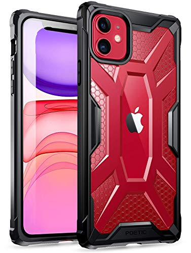 iPhone 11 Case, Poetic Premium Hybrid Protective Clear Bumper Cover, Rugged Lightweight, Military Grade Drop Tested, Affinity Series, for Apple iPhone 11 (2019) 6.1 Inch, Frost Clear/Black